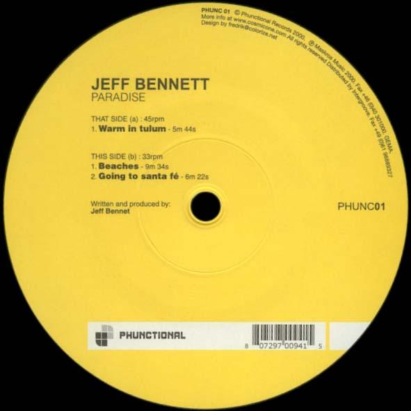Jeff Bennett – Paradise – Phunctional Rec